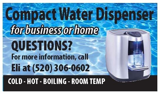 Compact water dispenser card