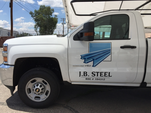 J.B. Steel vehicle graphics