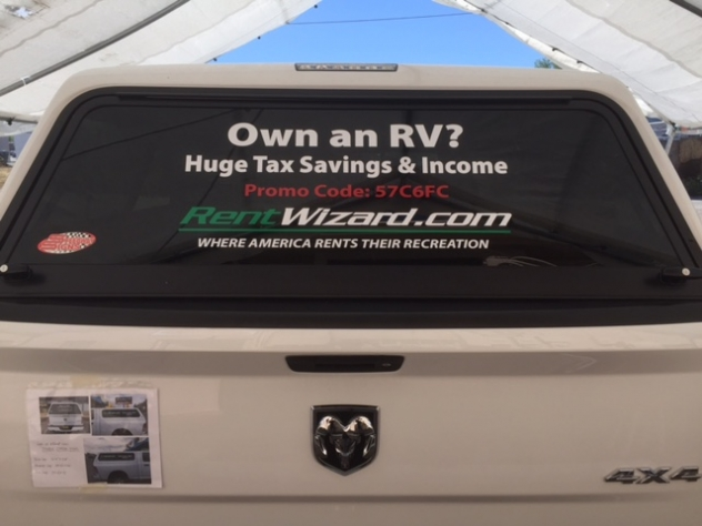 Rent Wizard rear window vinyl