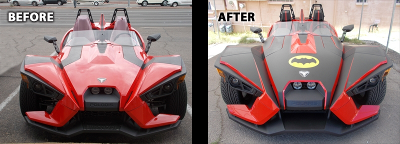 Batmobile BEFORE and AFTER