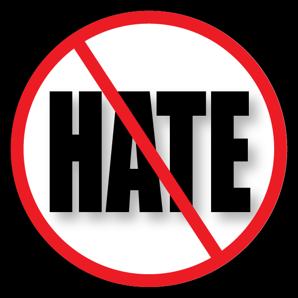 NO HATE decal